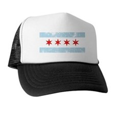 Chicago Flag Vintage Style Trucker Hat