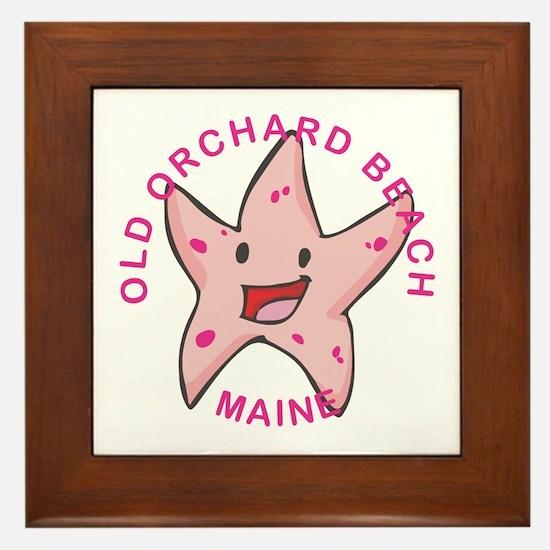 Cute Starfish Framed Tile