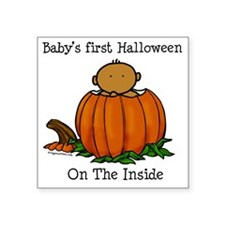 """babysfirsthallo_med Square Sticker 3"""" x 3"""""""