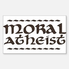 Moral Atheist Rectangle Decal