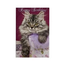 Birthday Card Front Rectangle Magnet