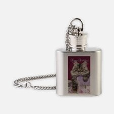 Birthday Card Front Flask Necklace