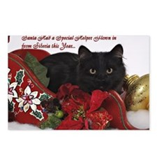 BB Christmas Card Front Postcards (Package of 8)