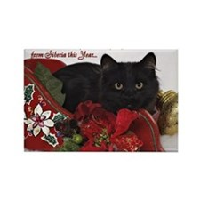 BB Christmas Card Front Rectangle Magnet