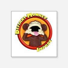 "Defiant Monkey DARK Square Sticker 3"" x 3"""