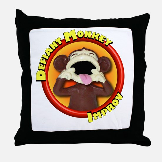 Defiant Monkey DARK Throw Pillow