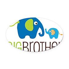 Elephants2BigBrotherV2 Oval Car Magnet