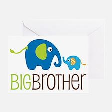 Elephants2BigBrotherV2 Greeting Card