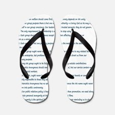 N.A. 12 Tradition Posters Flip Flops