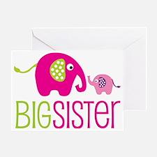 Elephants2BigSisterV2 Greeting Card