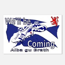 Well be Coming large wall Postcards (Package of 8)
