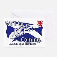 Well be Coming large wall peel Greeting Card