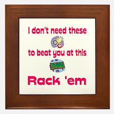PoolChick Rack Em Framed Tile