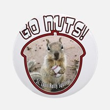 rally-squirrel-02_go-nuts_04 Round Ornament