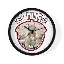 rally-squirrel-02_go-nuts_04 Wall Clock