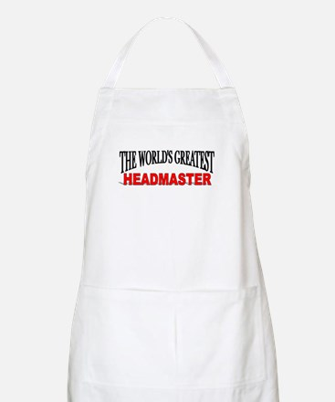 """The World's Greatest Headmaster"" BBQ Apron"