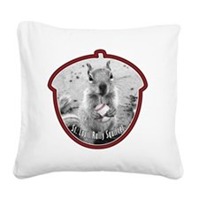 rally-squirrel-02_go-nuts_06 Square Canvas Pillow