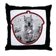 rally-squirrel-02_go-nuts_06 Throw Pillow