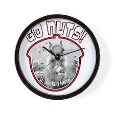 rally-squirrel-02_go-nuts_01 Wall Clock