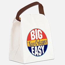 New Orleans Vintage Label W Canvas Lunch Bag