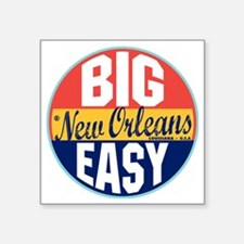 "New Orleans Vintage Label W Square Sticker 3"" x 3"""