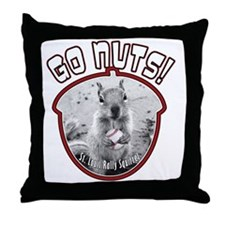 rally-squirrel-02_go-nuts_01 Throw Pillow
