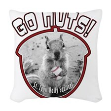 rally-squirrel-02_go-nuts_01 Woven Throw Pillow