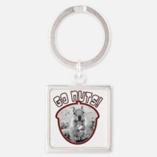 rally-squirrel-02_go-nuts_01 Square Keychain