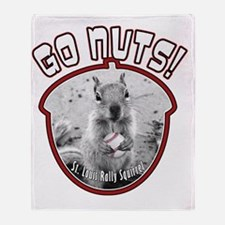 rally-squirrel-02_go-nuts_01 Throw Blanket