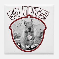rally-squirrel-02_go-nuts_02 Tile Coaster