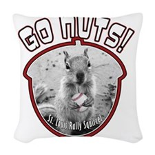 rally-squirrel-02_go-nuts_02 Woven Throw Pillow
