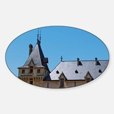 The medieval Chateau de Pressac mai Decal