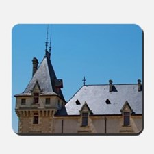 The medieval Chateau de Pressac main bui Mousepad