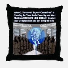 peterson shirt copy Throw Pillow