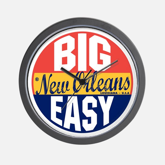 New Orleans Vintage Label B Wall Clock
