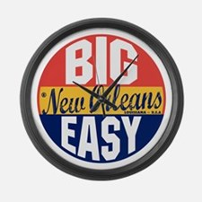 New Orleans Vintage Label B Large Wall Clock