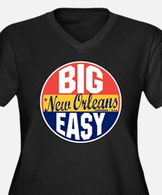 New Orleans  Women's Plus Size Dark V-Neck T-Shirt