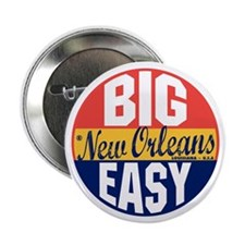 """New Orleans Vintage Label B 2.25"""" Button"""