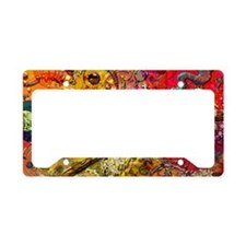 circle of circles and grunge  License Plate Holder