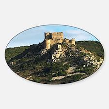 The Chateau dAguilar Cathar hilltop Decal