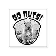 "rally-squirrel-02_go-nuts_0 Square Sticker 3"" x 3"""