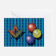 xmas tree card blue Lodge Greeting Card