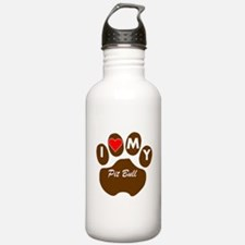 I Heart My Pit Bull Water Bottle