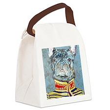 8x10Lite JacketBulldog Canvas Lunch Bag