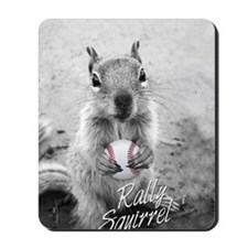 5x3oval_vert_rally-squirrel_03 Mousepad