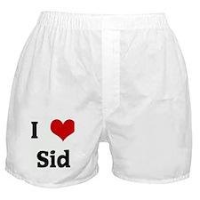 I Love Sid Boxer Shorts