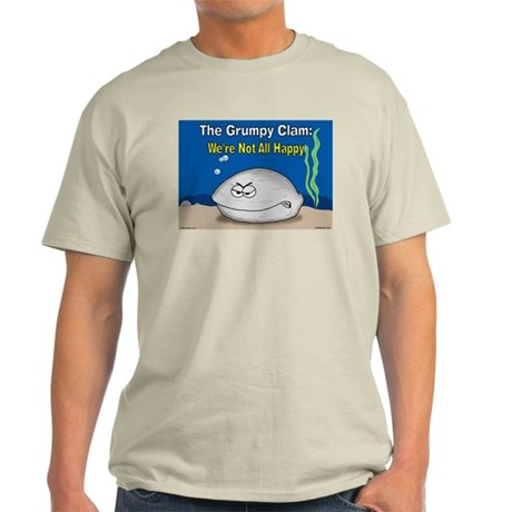 Grumpy Clam Ash Grey T-Shirt