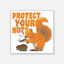 "protectyournuts Square Sticker 3"" x 3"""