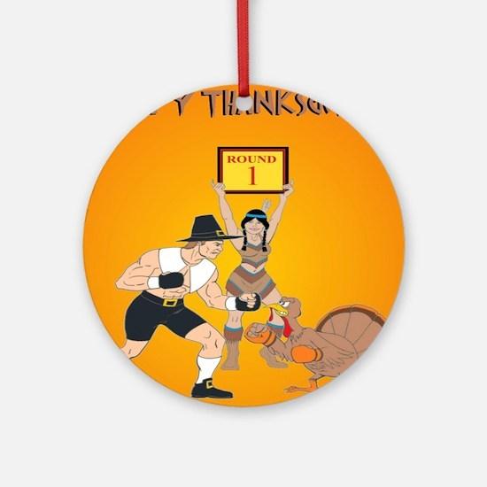 MMA Thanksgiving Round Ornament
