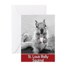 5x3oval_vert_rally-squirrel Greeting Card